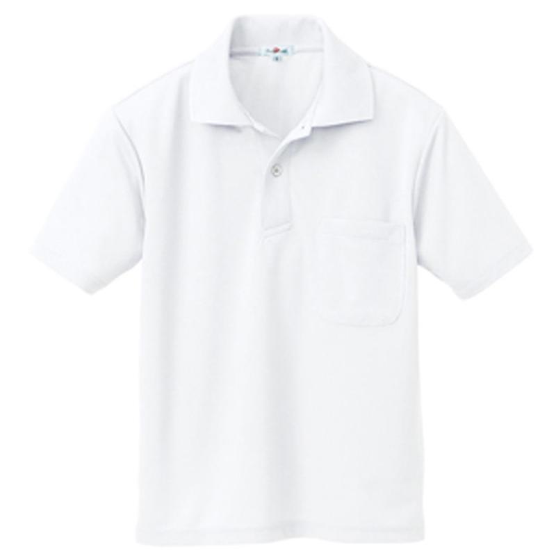 半袖ポロシャツ(男女兼用)ホワイト 10579-001