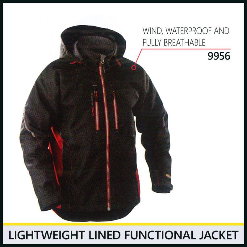 ライトウェイトジャケット ブラック/レッド 4890-9956