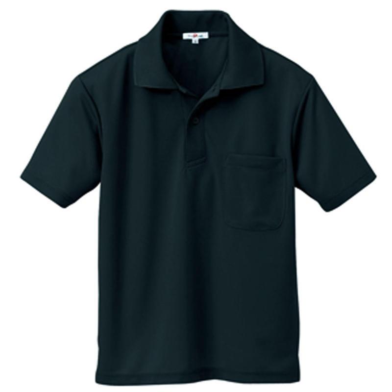 半袖ポロシャツ(男女兼用)  ブラック 10579-010