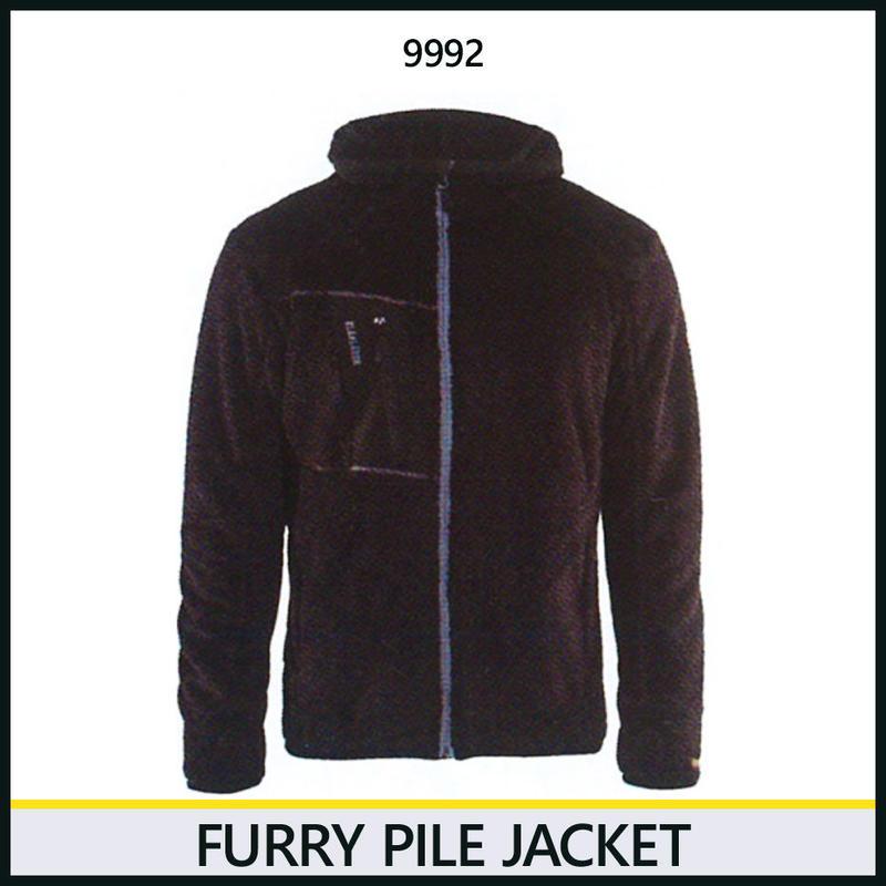 パイルジャケット ブラック/シルバー 8218-9992