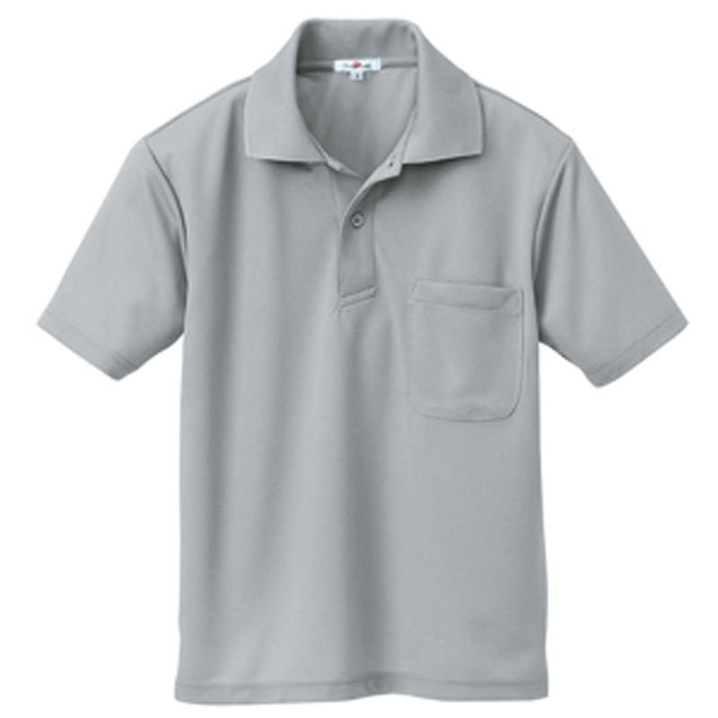 半袖ポロシャツ(男女兼用) グレー 10579-004