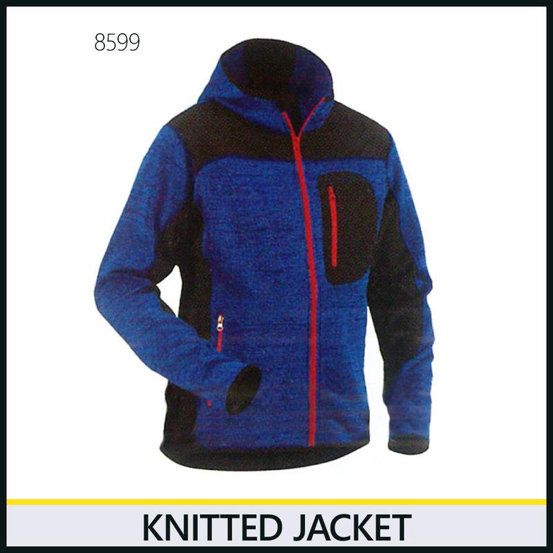 ニットジャケット コーンフラワーブルー/ブラック 8219-8599
