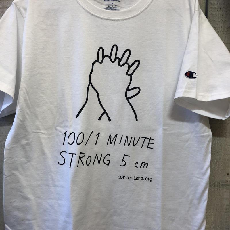 NEW!  100/1  ×  Champion  Tシャツ(ホワイト)