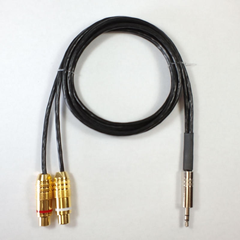JM1011 ステレオミニフォーン(3.5φ)-RCAジャック×2 1m