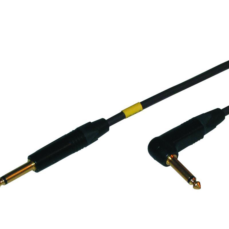 HCPC07 PCOCC高音質ギターケーブル 5m ストレート ライトアングル