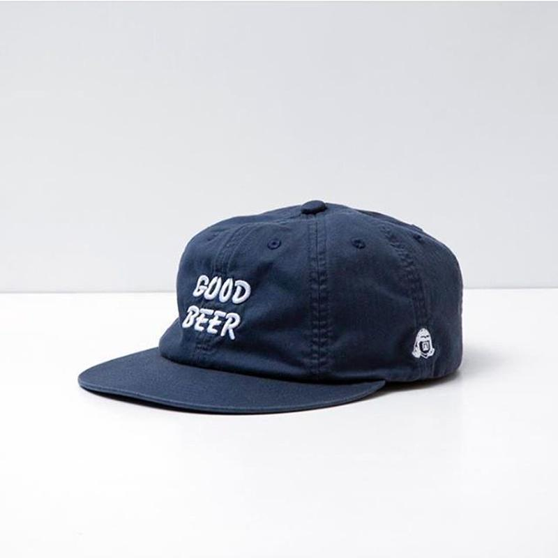 TACOMA FUJI RECORDS /GOOD BEER HERRINGBONE CAP designed by Jerry UKAI / NAVY / タコマフジ / ジェリー鵜飼 / ネイビー