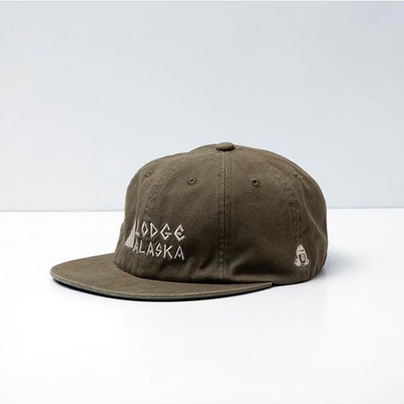 TACOMA FUJI RECORDS / Lodge ALASKA HERRINGBONE CAP designed by MATT LEINES / KHAKI / タコマフジ / カーキ
