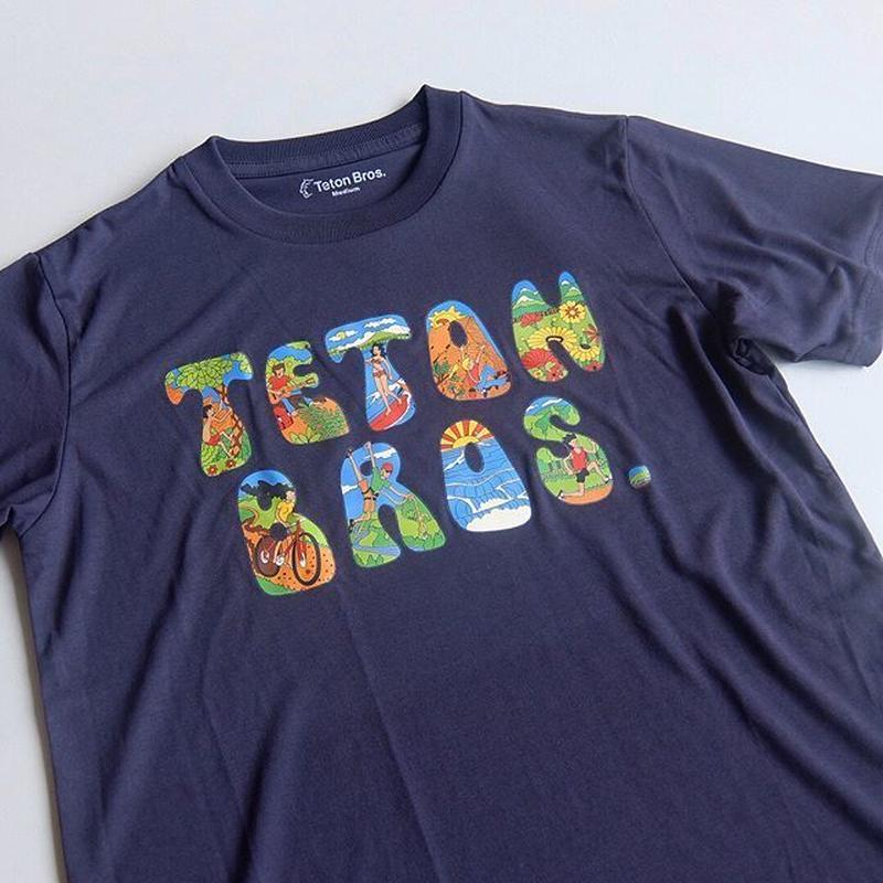 TETON BROS. / TB FONT TEE / NAVY / ティートンブロス / ネイビー