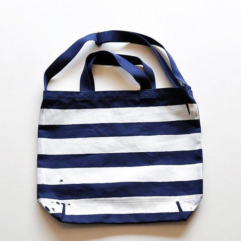 TACOMA FUJI RECORDS / THE STRIPED TOTE designed by Jerry UKAI / NATURAL / タコマフジ / ジェリー鵜飼 / ナチュラル