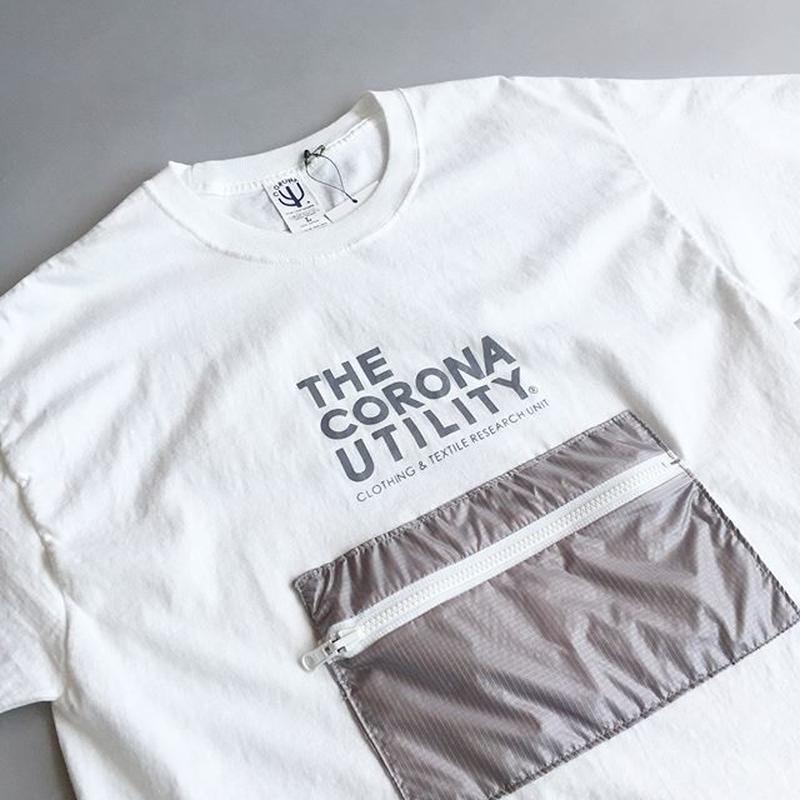 CORONA / PACKABLE POCKET TEE / WHITE×GRAY / コロナ / パッカブルポケットTシャツ / ホワイト×グレー