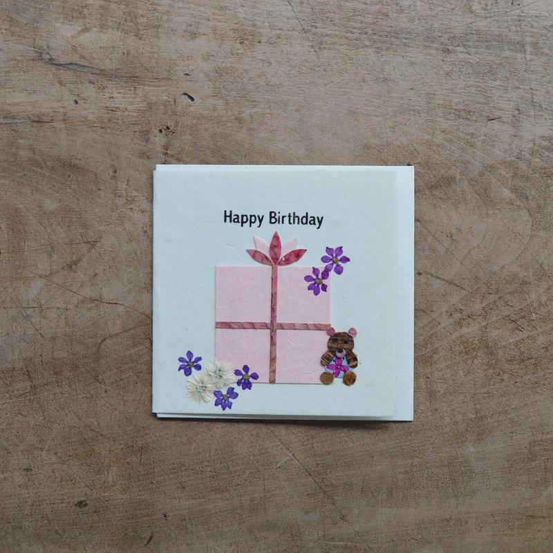 第3世界ショップ / 手漉き紙 ミニカード・お誕生日(ギフト)