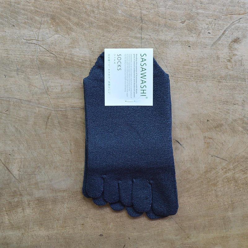 ささ和紙 レディス 5本指靴下(22-24cm)