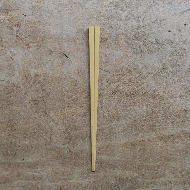 こども四角箸(白竹)
