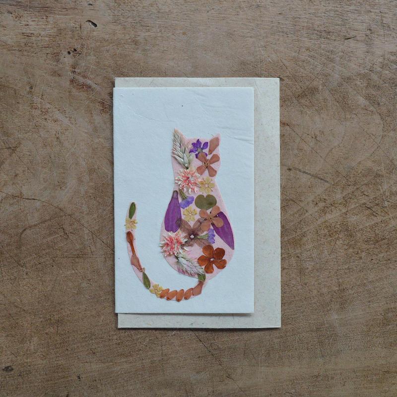第3世界ショップ / 手漉き紙 ミニカード・ネコ