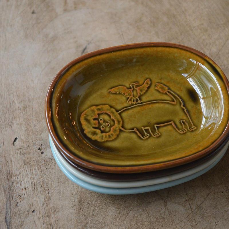 トラネコボンボン / オーバル豆皿