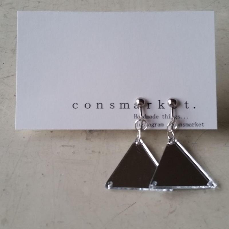 earrings ミラー 180704/e-3