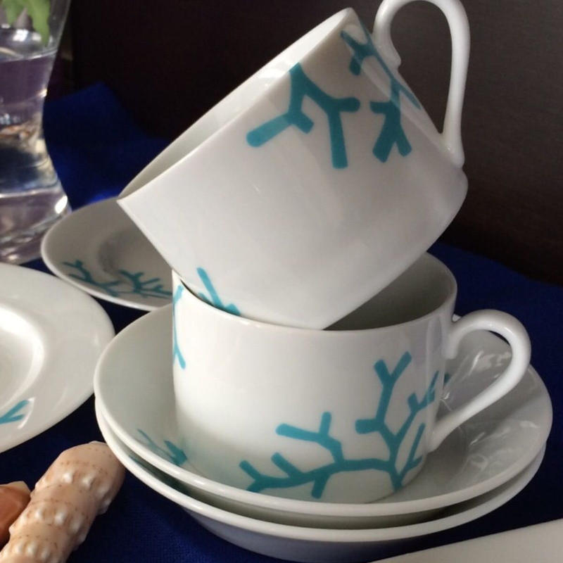 3枚Set 珊瑚転写紙『Coral BLUE』