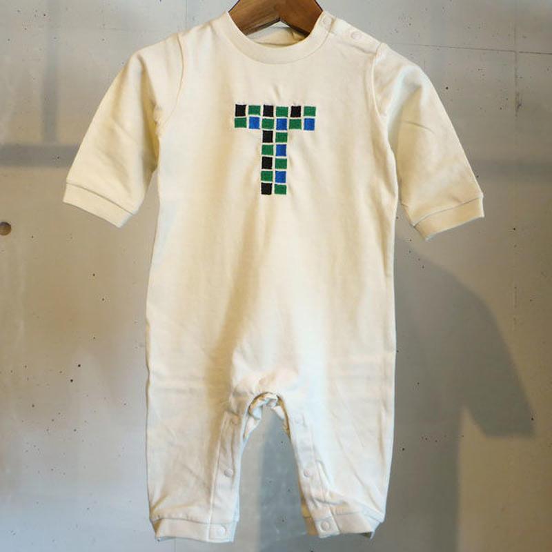 MOMENT(モーメント) 名入れ刺繍ロンパース T