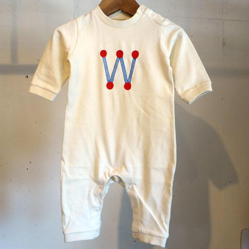 MOMENT(モーメント) 名入れ刺繍ロンパース W