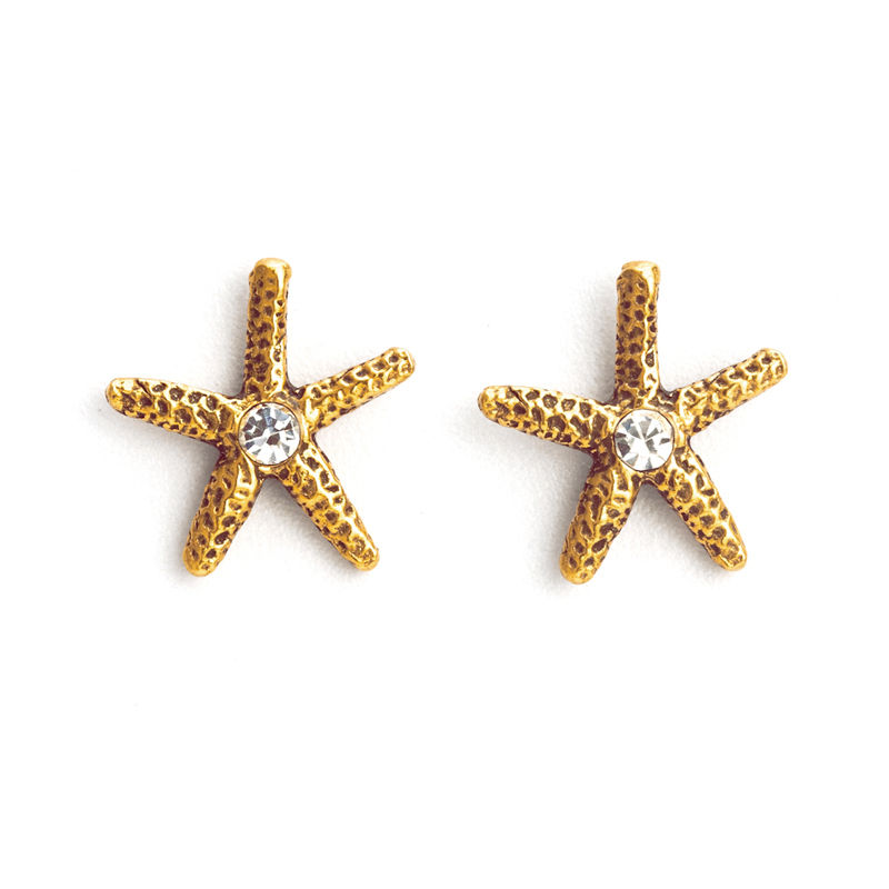 Sea Star Pierced Earring Gold