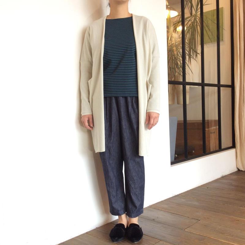 <women>evam eva (エヴァム エヴァ ) コットン&ラミー ニットローブ cotton ramie robe (E191K009) / エクリュ