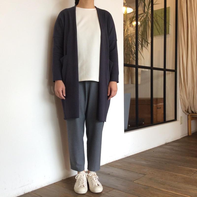 <women>evam eva (エヴァム エヴァ ) コットン&ラミー ニットローブ cotton ramie robe (E191K009) / ブルーグレー(チャコール)