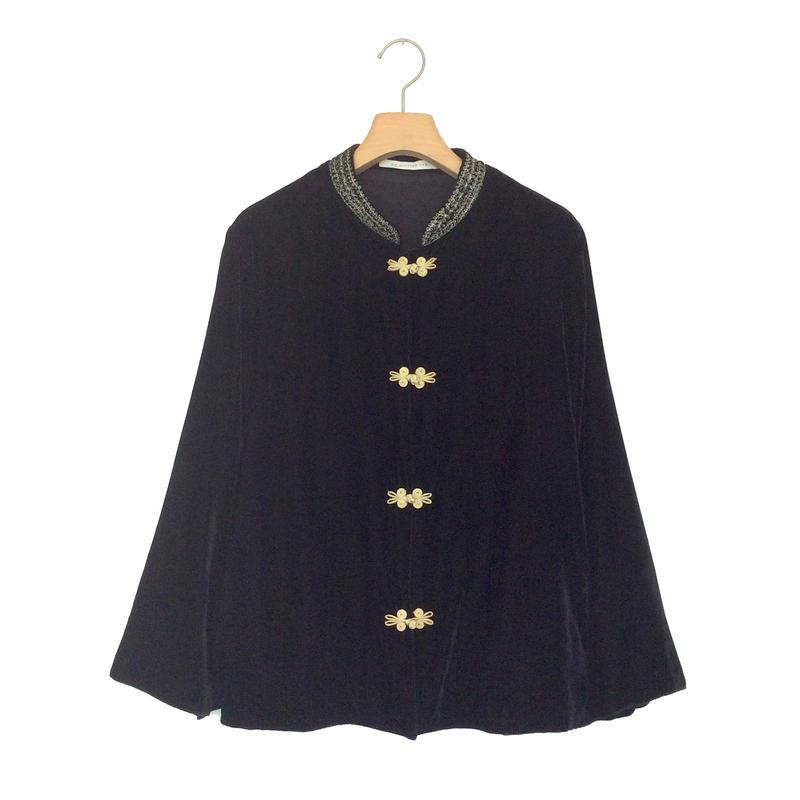 <women>ne Quittez pas(ヌキテパ)刺繍チャイナジャケット(010982428) / BLACK