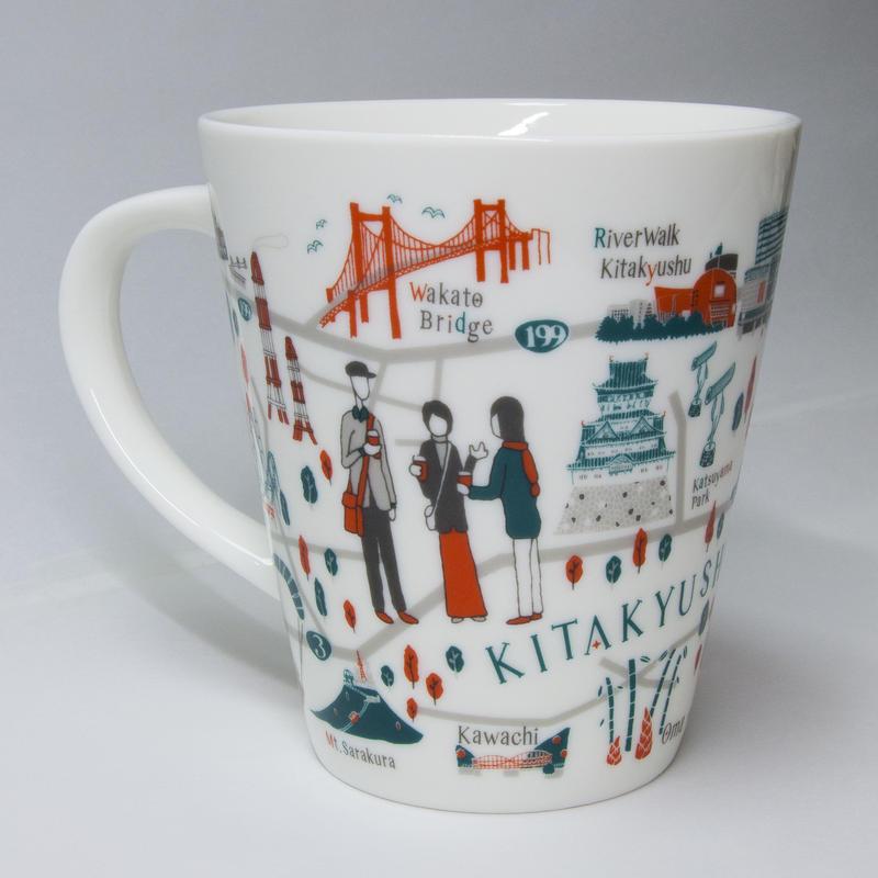 北九州 地図 マグカップ