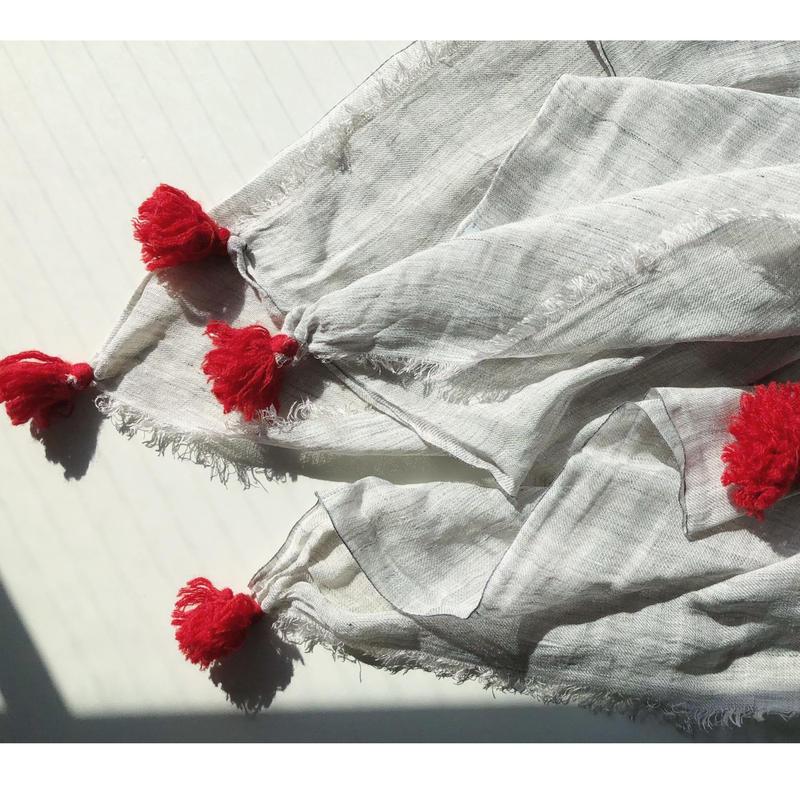 Silk/Linen with tassel stole