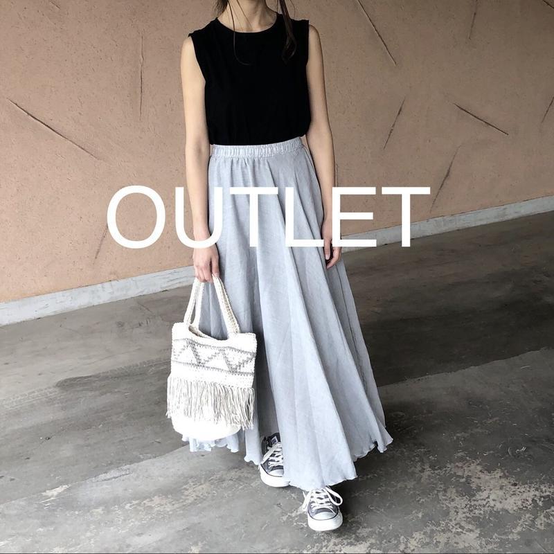 【OUTLET】柔らかガーゼ素材!ふんわりロングスカート 【クリックポスト対象商品】
