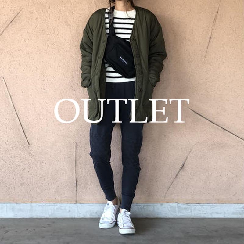 【OUTLET】中綿ボアリバーシブルキルティングジャケット(カーキ)