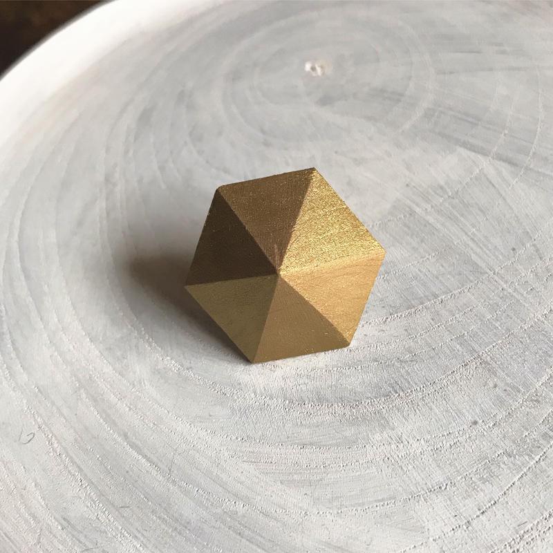 六角形ピアス(ゴールド)