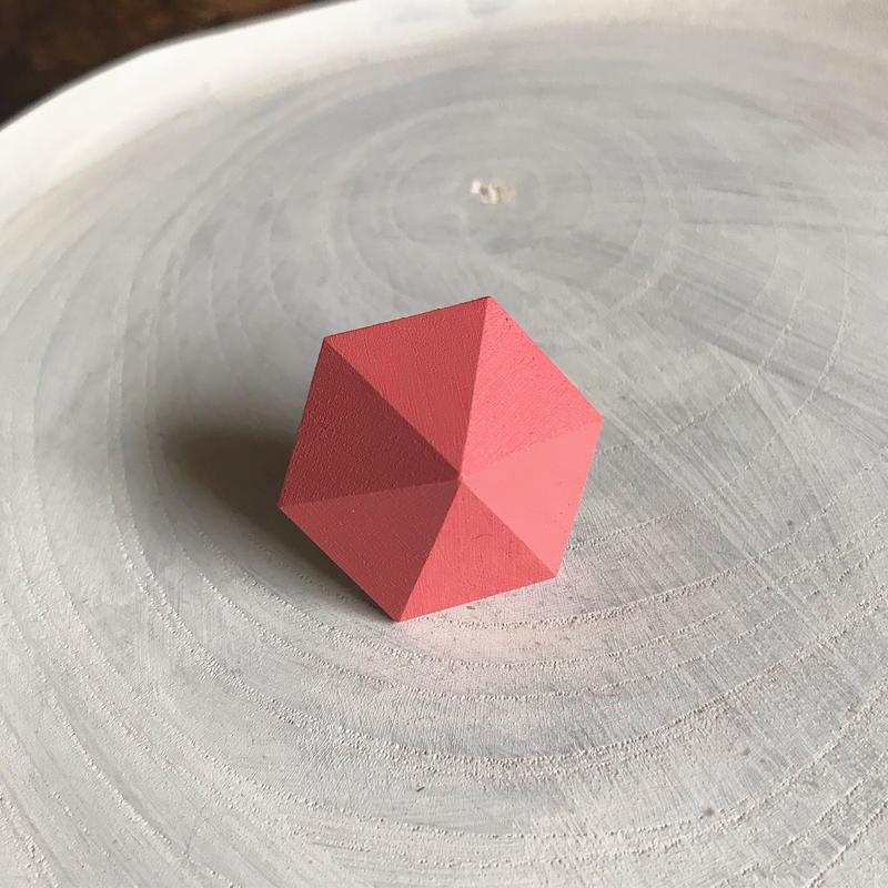 六角形イヤリング(ストロベリーアイス)