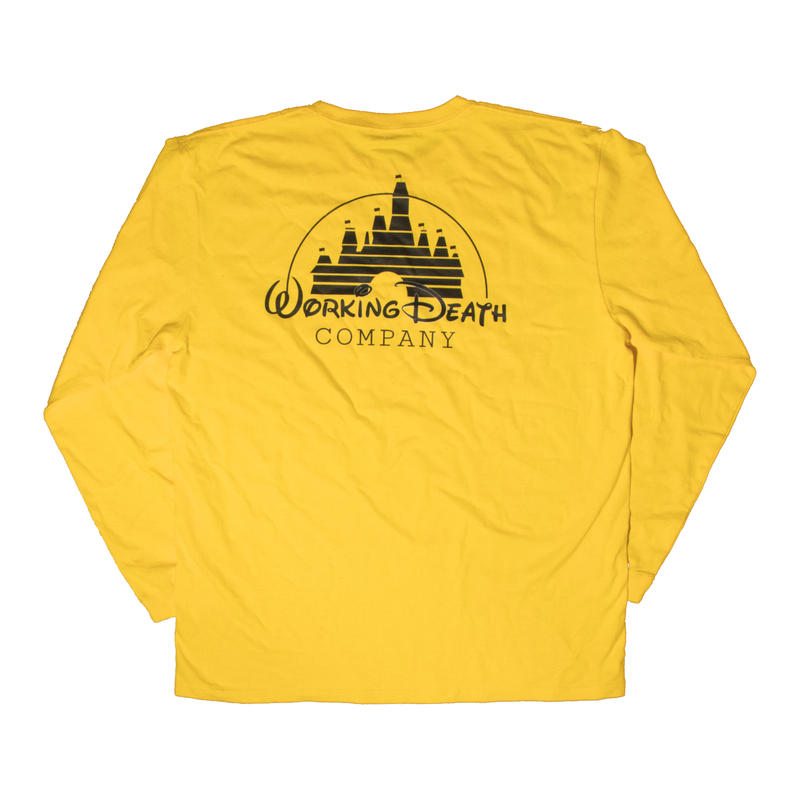 WORKING DEATH  L/S TEE YELLOW