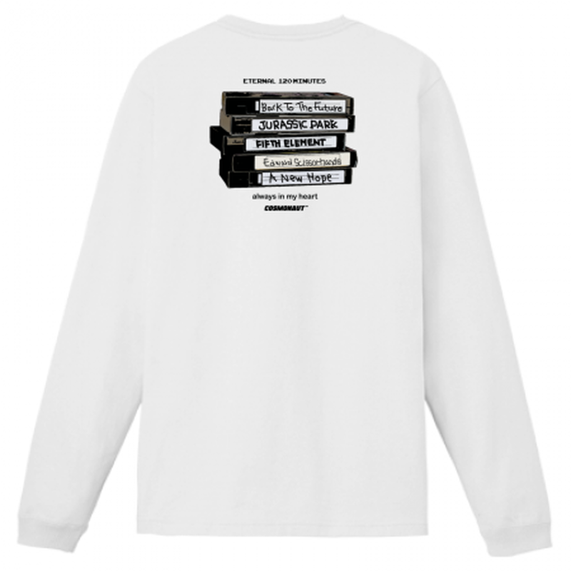 VHS MEMORIES L/S TEE WHITE