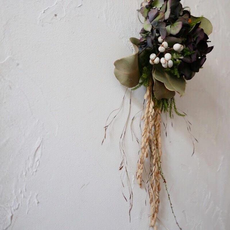 アンティークアジサイのお正月飾り