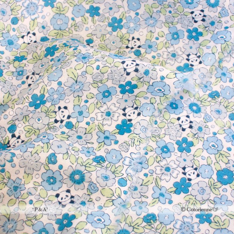 P & A -blue (CO919529 D)【ダブルガーゼ】