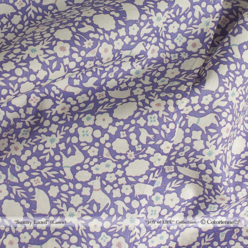 Sunny Land -purple (CO312692 C)軽やかローン生地