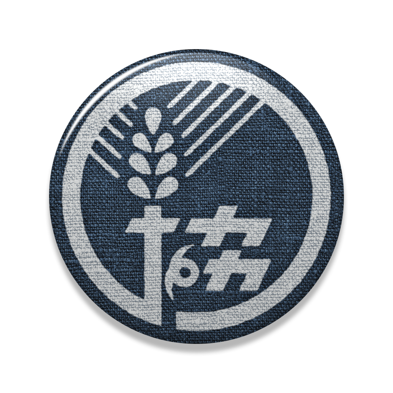 【農協マーク】缶バッヂ『藍』