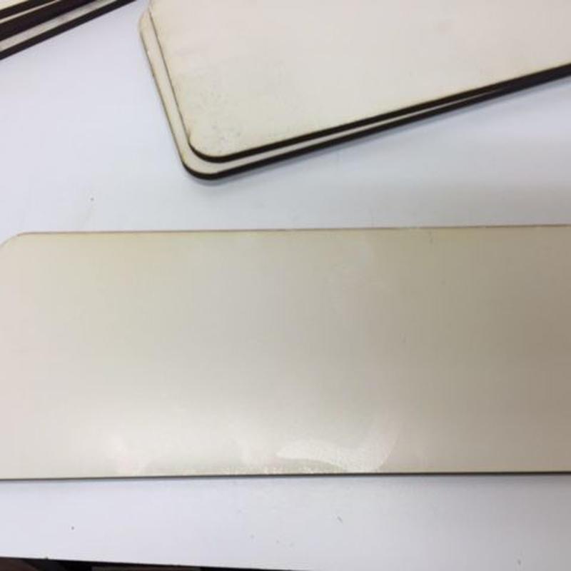 プレート素材 ホワイトフィルム貼り4枚セット
