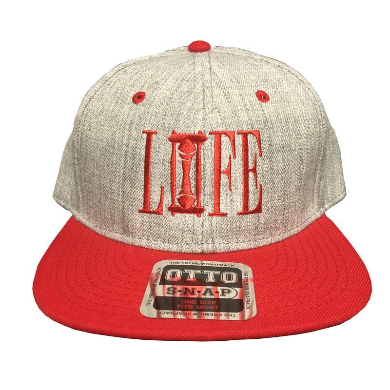 LIFE ヘザーウールブレンド ベースボールCAP(ヘザーグレー&レッド)