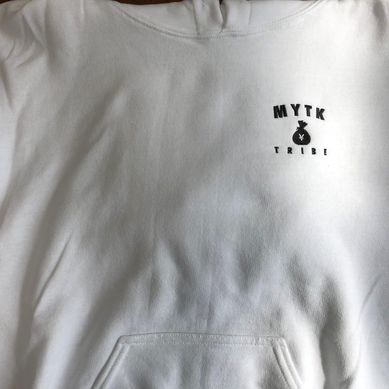 MYTK ワンポイントパーカー(ホワイト)