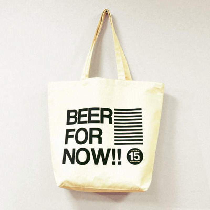 "DOACOCK 15th Anniversary Tote bag ""BEER FOR NOW!! Tote"" BE×BLK"