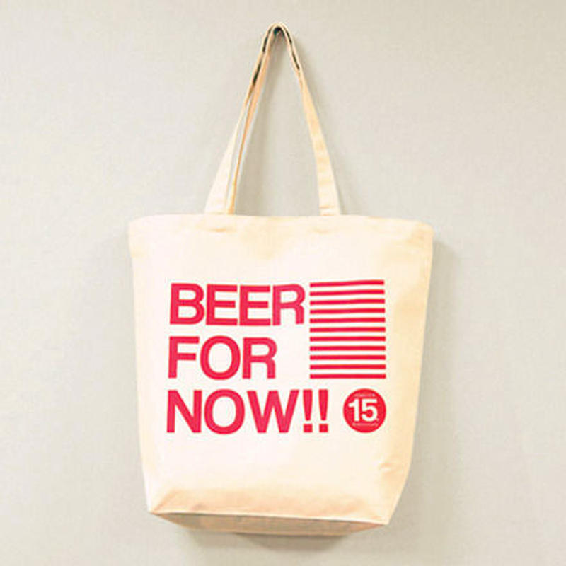 "DOACOCK 15th Anniversary Tote bag ""BEER FOR NOW!! Tote"" BE×RED"