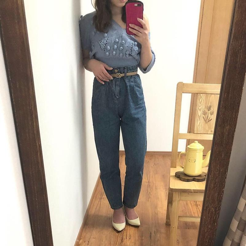 tak high waist denim pants