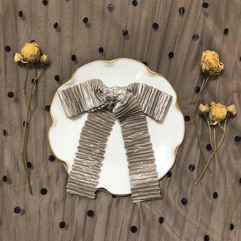 pleats ribbon valletta (cinnamon)