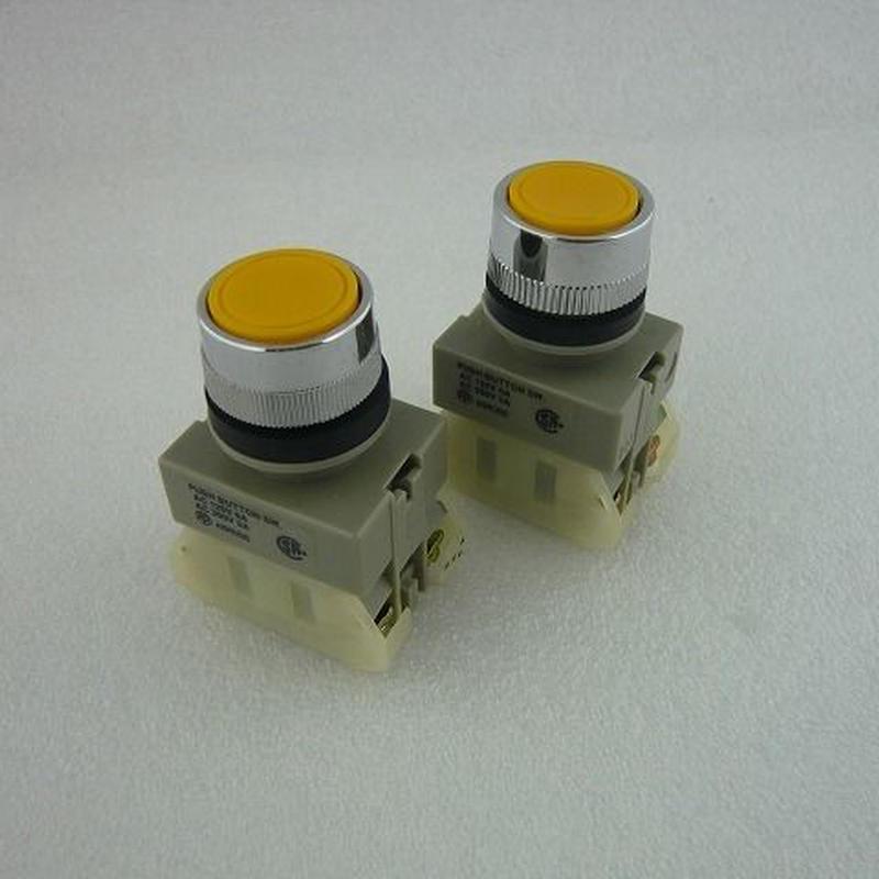 Φ22 プッシュボタンスイッチ 黄色2個 JUNK(PUSH BOTTON SWITCH JUNK)