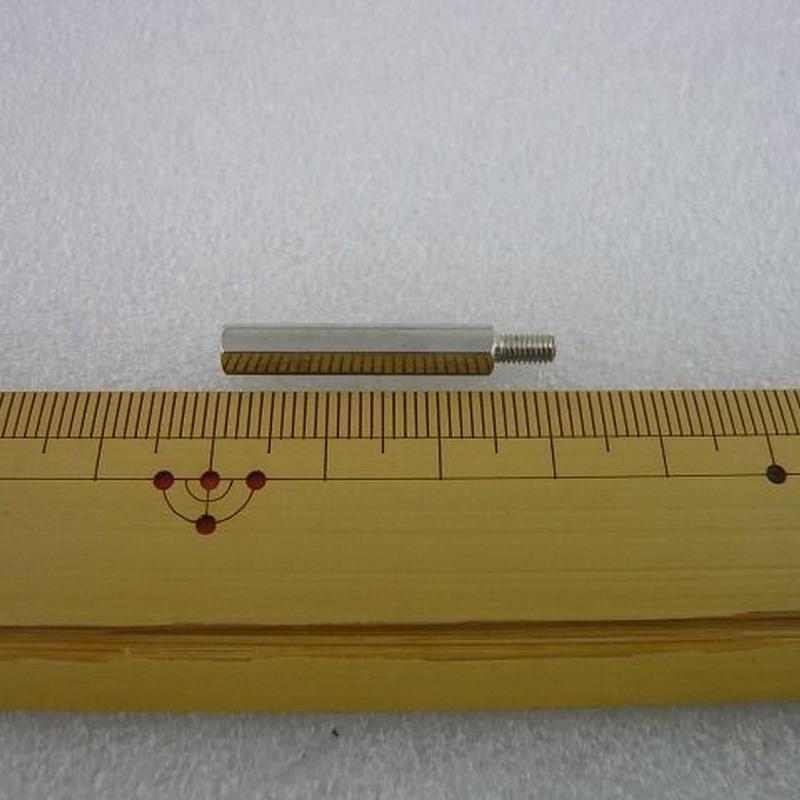 金属六角スペーサー M3×25+6  オス-メス  10pcs/set