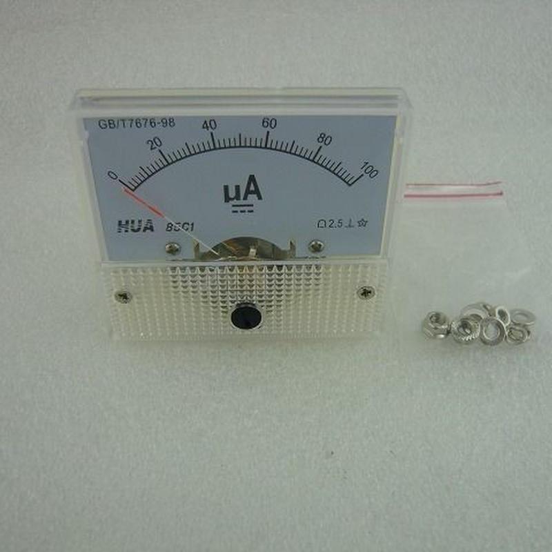 直流電流計 100μA ( DC 100μA METER )