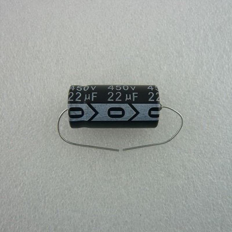 台湾 RICHEY社製 チューブラ電解コンデンサ  22μF / 450V